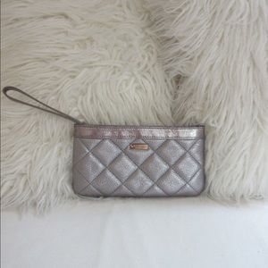 Late Spade Quilted Clutch/Wristlet